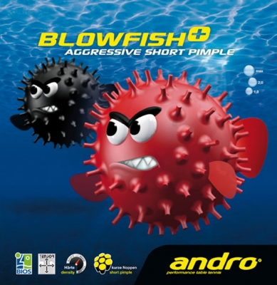 Andro rubber BLOWFISH+ (sendvič)